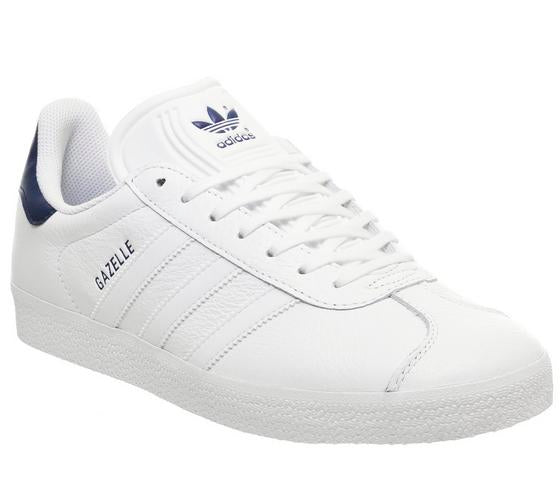 Mens Adidas Gazelle White Dark Blue Uk Size 8