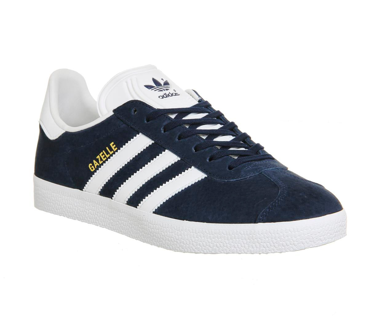 Mens Adidas Gazelle Collegiate Navy White Trainers
