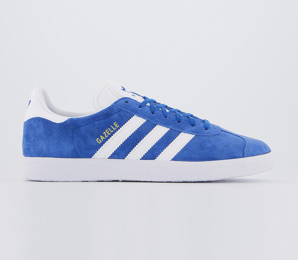 Mens Adidas Gazelle Blue White Gold Metallic