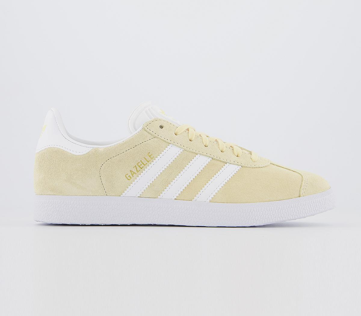 Womens Adidas Gazelle Easy Yellow White Gold Metallic F