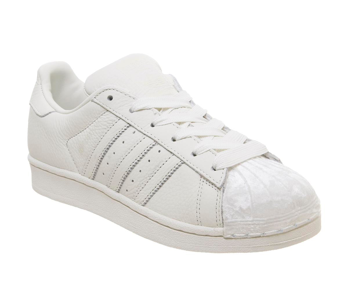 Womens Adidas Superstar 1 Off White Off White Velvet