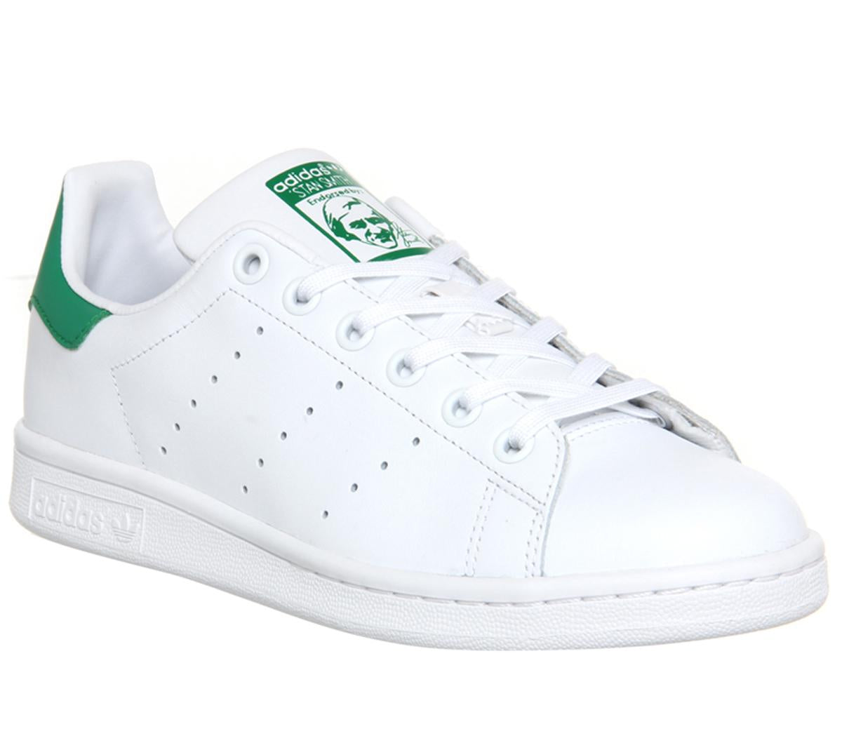 Mens Adidas Stan Smith Core White Green Trainers