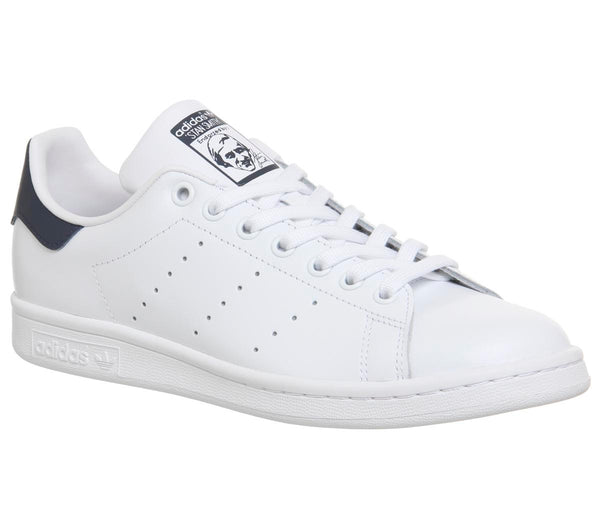 Womens Adidas Stan Smith Core White Dark Blue Uk Size 6
