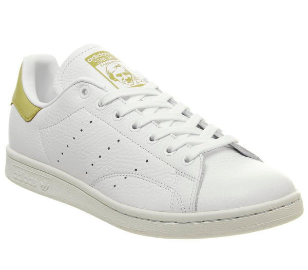 f743b4a9396ea8 Mens Adidas Stan Smith White White Raw Ochre Uk Size 7