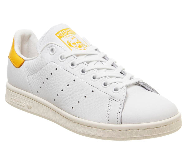 Womens Adidas Stan Smith White Active Gold Off White F
