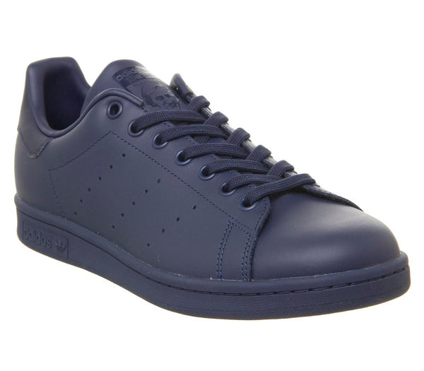 Mens Adidas Stan Smith Navy Leather Mono
