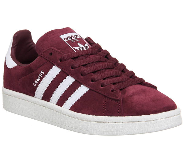 Mens Adidas Campus Collegiate Burgundy White Uk Size 9