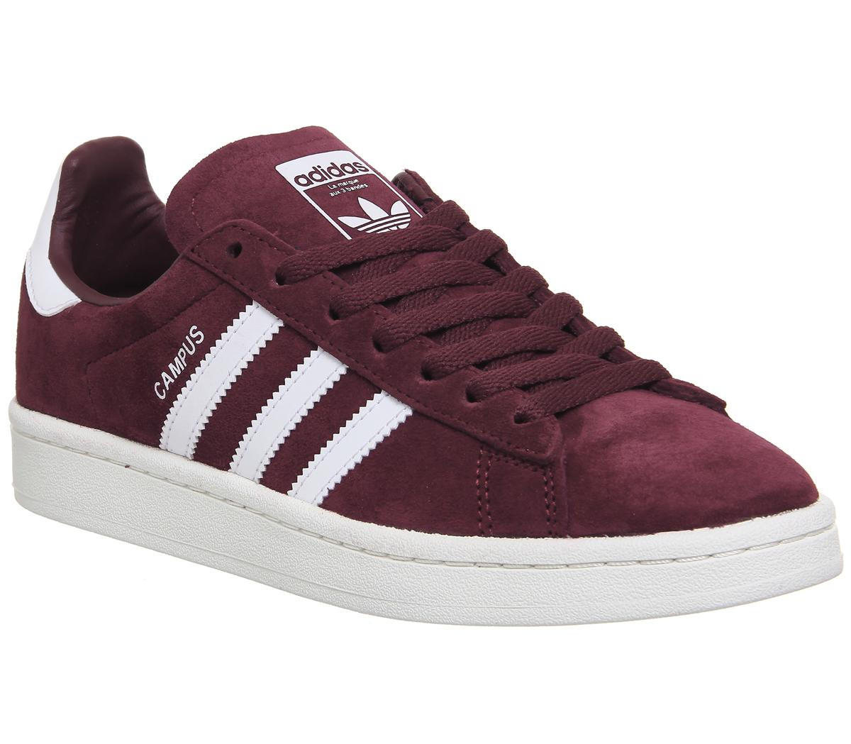 Womens Adidas Campus Collegiate Burgundy White