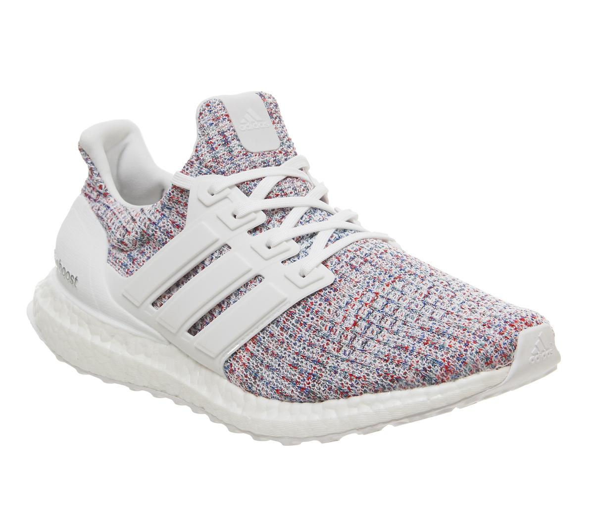 Mens Adidas Ultra Boost White White Blue