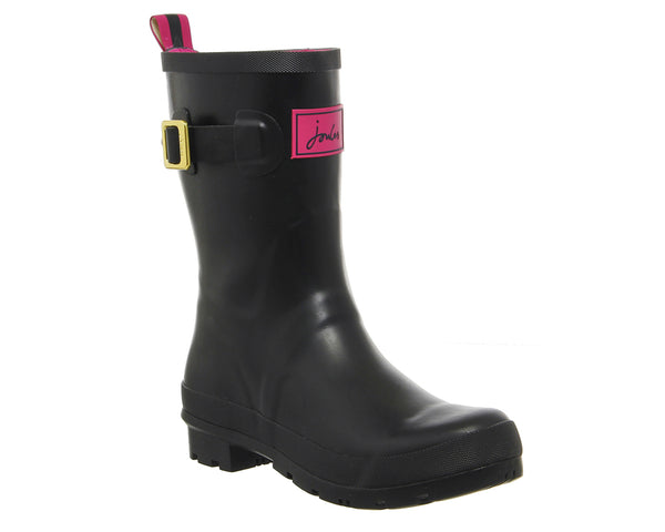 Womens Joules Kelly Mid Welly Black Gloss