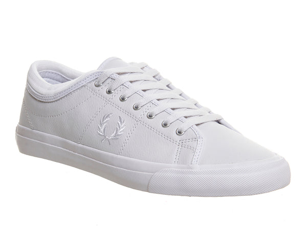 Mens Fred Perry Kendrick Leather White Mono  Trainers  UK Size 8
