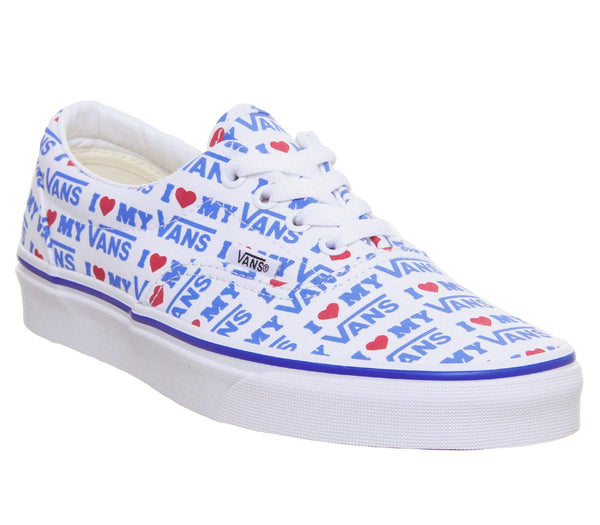Womens Vans Era I Heart Vans True White