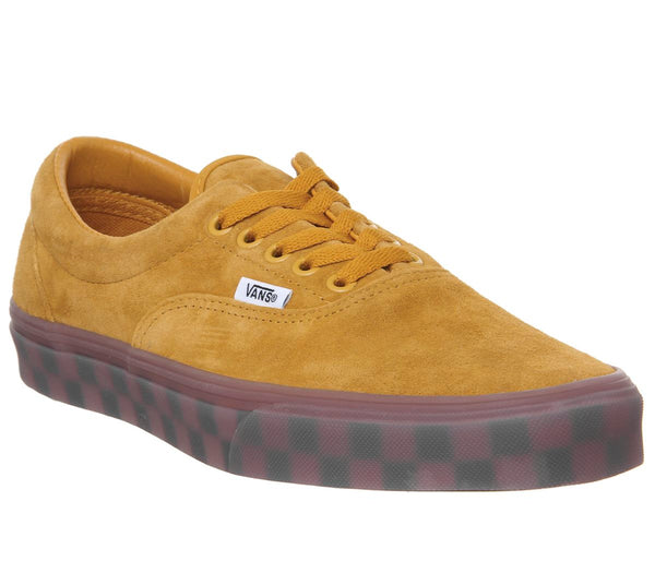Vans Era Trainers Sunflower Checker Ice Sole