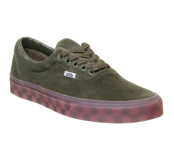 Vans Era Trainers Grape Leaf Checker Ice Sole