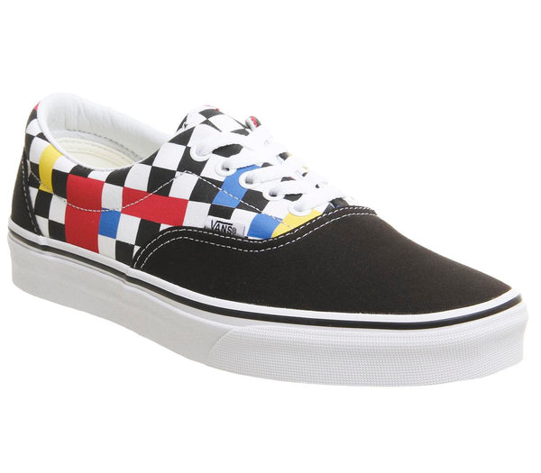 Mens Vans Era Geometric Black Multi True White