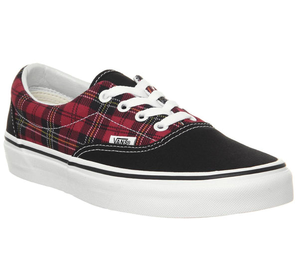 Womens Vans Era Chili Pepper True White Tartan Uk Size 5