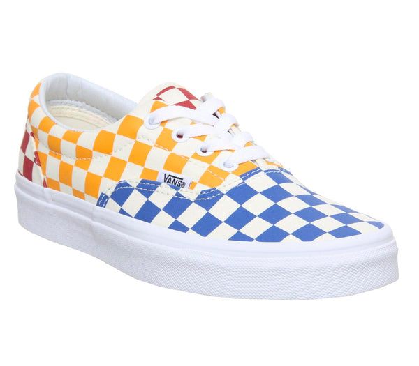 Womens Vans Era Multi Checkerboard True White