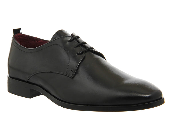 Mens Poste Carlo Lace Derby Shoes Black Leather