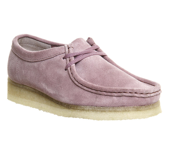 Womens Clarks Originals Wallabee Shoes Vintage Pink Suede