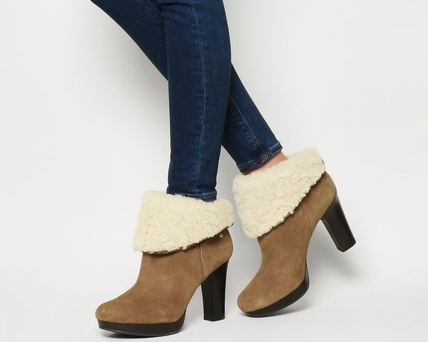 Womens Ugg Dandylion 11 Heel Chestnut Suede Uk Size 3.5