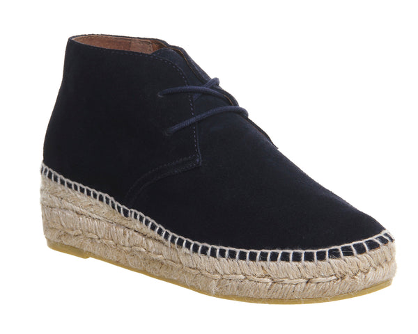 Womens Office Gineva Espadrille Boot Navy Suede