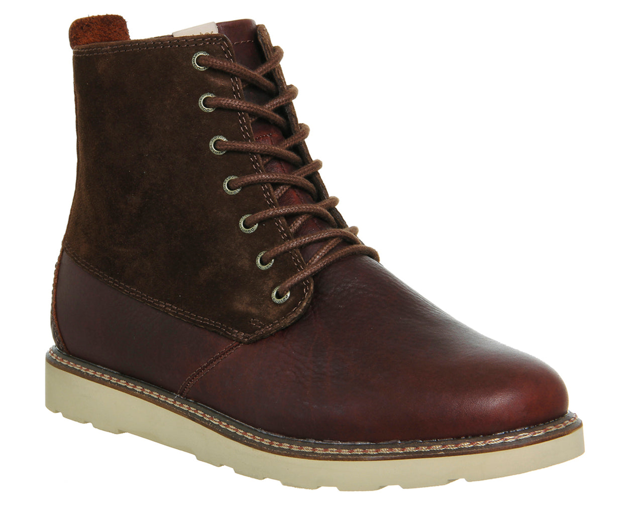 Mens Pointer Caine Lace Up Boot Carafe Coconut Shell Suede Leather