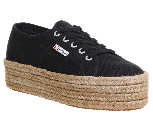 Womens Superga 2790 (L) Black Espradrille