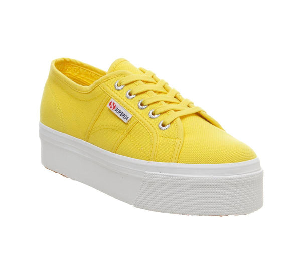 Womens Superga 2790 (L) Yellow Sunflower Uk Size 6.5