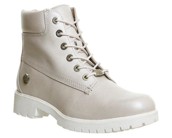 Womens Timberland Slim Premium 6 Inch Boot Pearl Grey Leather