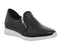 Womens Oki Kutsu Quattro Zip Slip On Black Leather