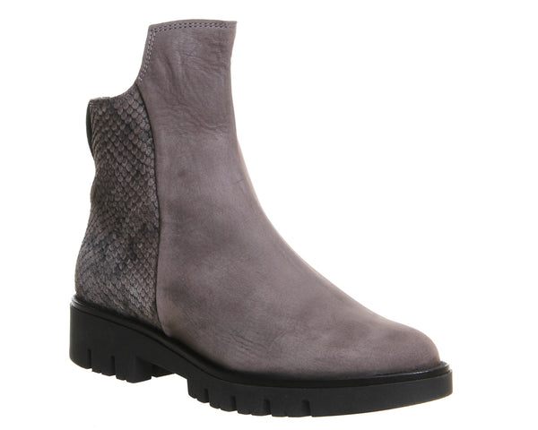 Womens Gaimo for OFFICE Gabriella Ankle Boots Grey Nubuck