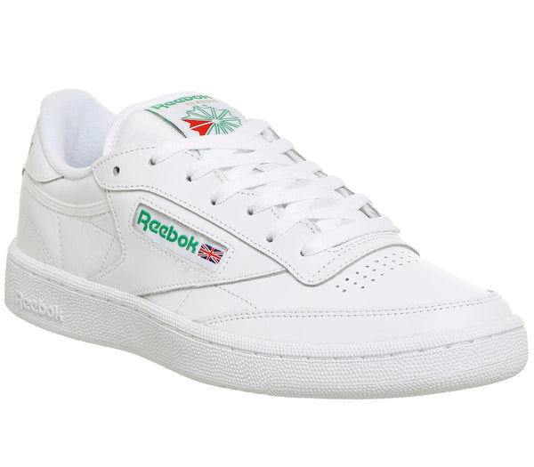Mens Reebok Club C 85 White Green Trainers