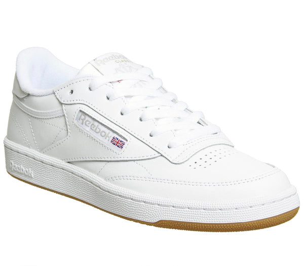 Womens Reebok Club C 85 White Grey Gum Trainers