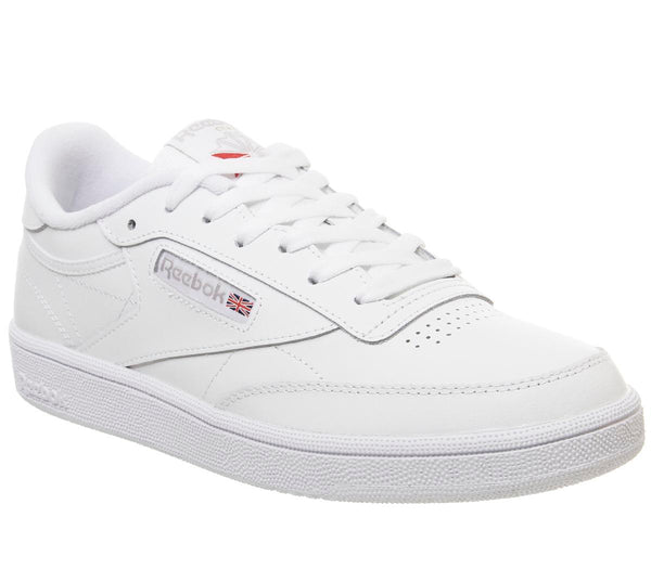 Womens Reebok Club C 85 White Light Grey Trainers