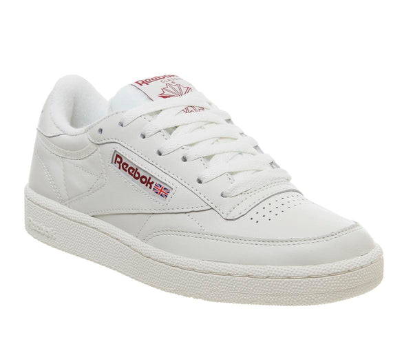 Mens Reebok Club C 85 Vintage Chalk Meteor Red