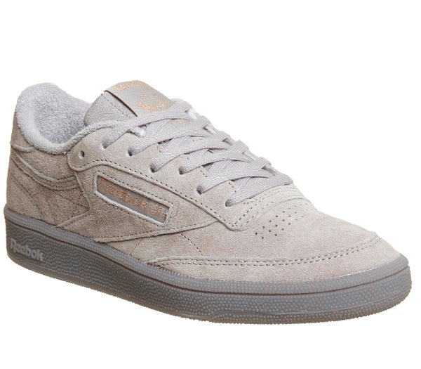 Womens Reebok Club C 85 Skull Grey Rose Gold