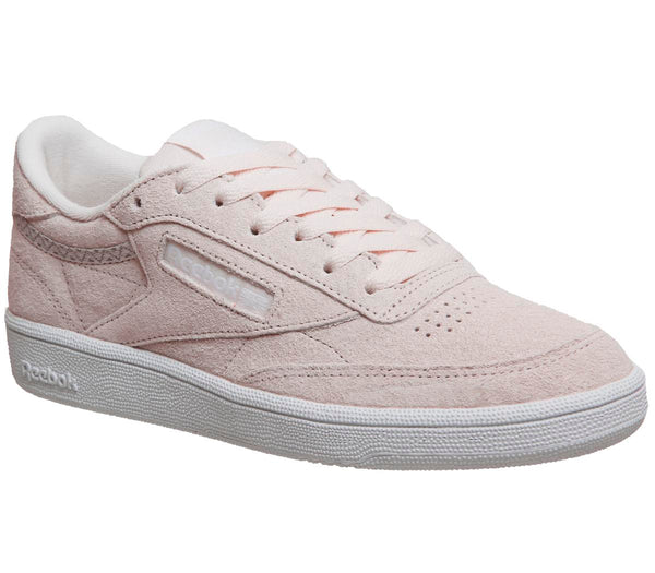 Womens Reebok Club C 85 Pale Pink White Trim