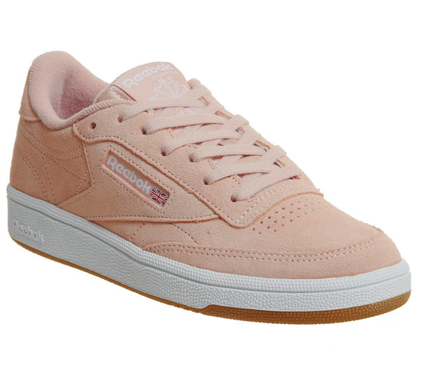 Womens Reebok Club C 85 Peach Twist White Gum Uk Size 7