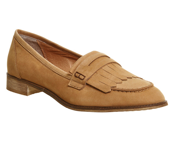 Womens Office Down Town Fringe Loafers Tan Nubuck