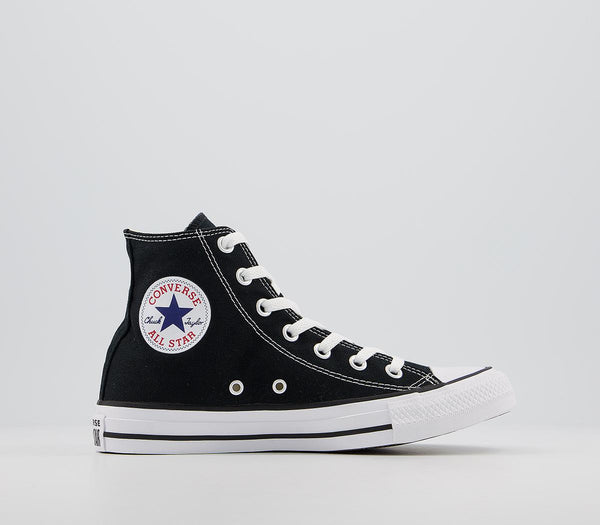 Odd sizes - Mens Converse All Star Hi Black Canvas Trainers UK Sizes R9/L10