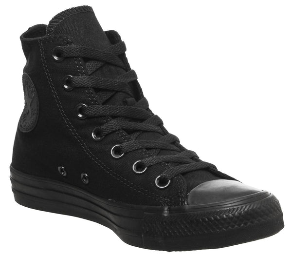 Mens Converse Converse All Star Hi Black Mono Canvas Uk Size 6
