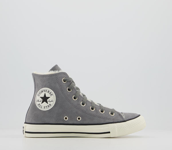 Odd Sizes - Womens Converse All Star Hi Trainers Dark Concrete Shealring Exclusive Uk Sizes R4/L5