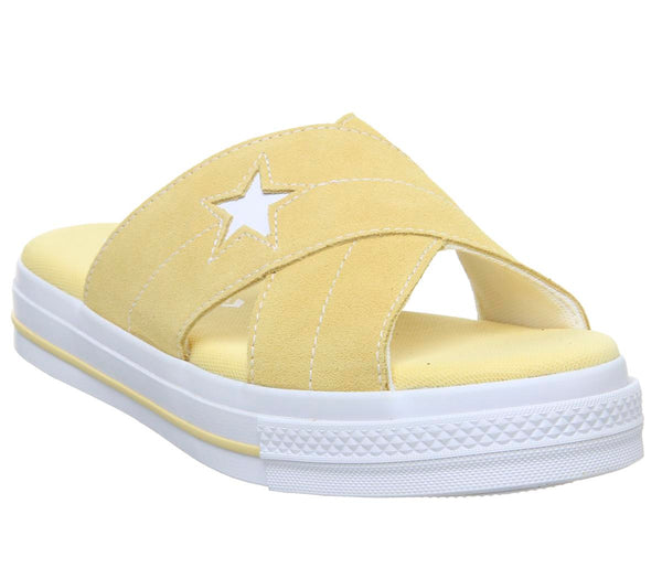 Womens Converse Converse One Star Sandal Butter Yellow Egret White Uk Size 6