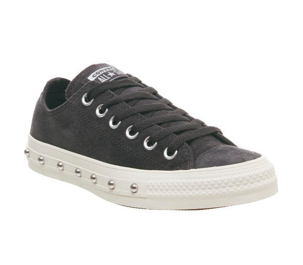 Womens Converse Converse All Star Low Almost Black White Stud Uk Size 3