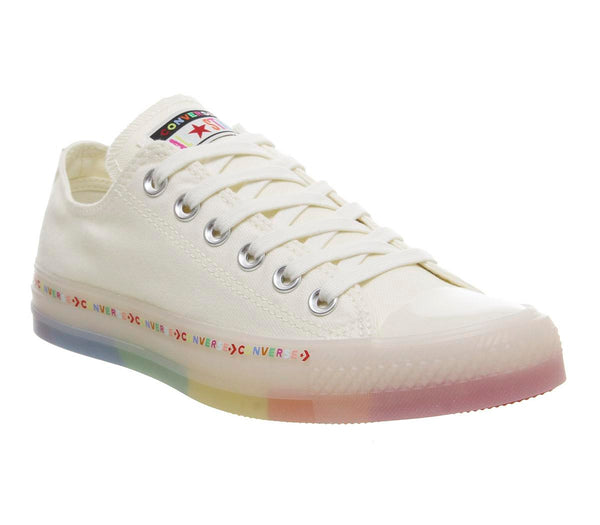 Womens Converse All Star Low Egret White Rainbow