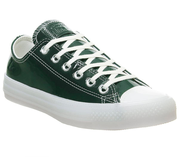 Womens Converse All Star Low Deep Emerald White Egret