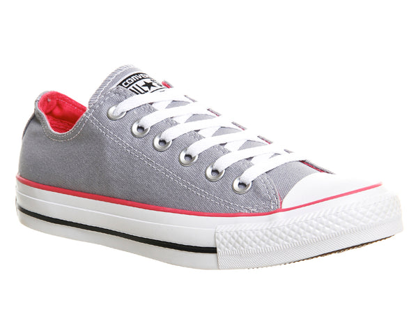 Mens Converse All Star Low Grey pink