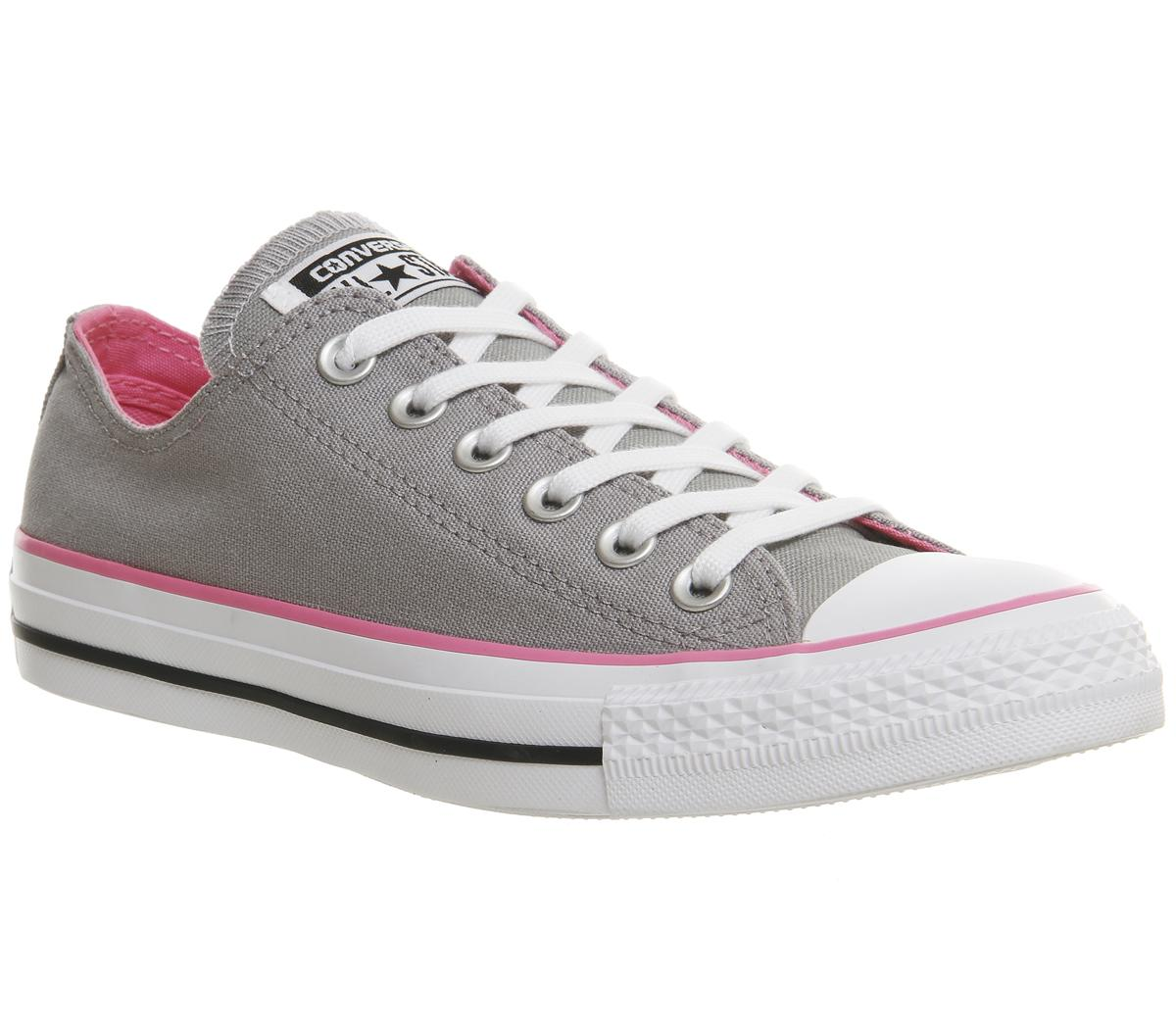 Womens Converse All Star Low Grey Pink