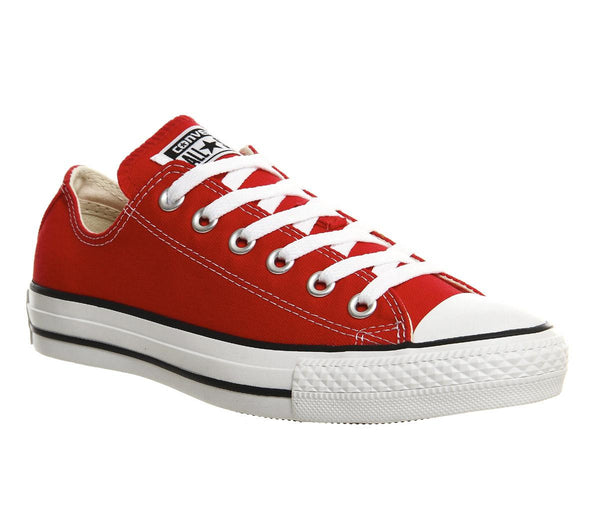 Womens Converse All Star Low Red Canvas