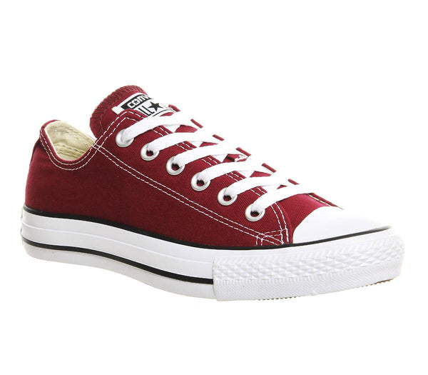 Mens Converse Converse All Star Low Maroon Canvas Uk Size 9